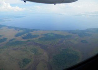 We are arriving on the Mosquito Coast-this is the Caratasca Lagoon  we will cross this to get into the Kruta River